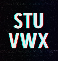 Font with TV Stereo Effect From S to X vector image vector image