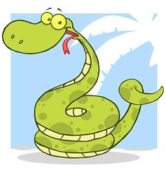 Happy Snake Cartoon Character vector image vector image