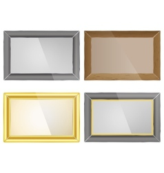 Set photo frame vector image