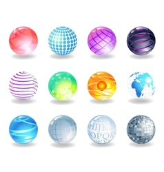 Spheres icons vector image