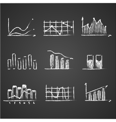 business sketches finance statistics infographics vector image