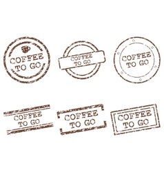 Coffee to go stamps vector image