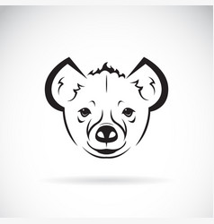 hyenahyaenidae head design animal vector image vector image