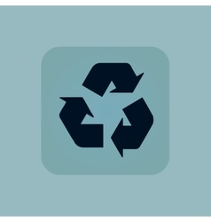 Pale blue recycle icon vector image