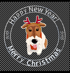 print for christmas envelopes-08 vector image