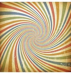 Sunburst colorful vintage background Old paper vector image vector image