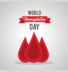 world hemophilia day blood drop medical healthcare vector image