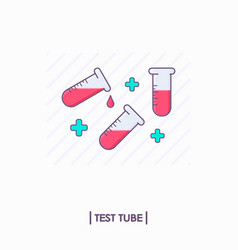 collection of test tubes with red liquid vector image vector image