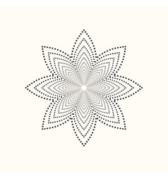 dotted geometric shape vector image vector image