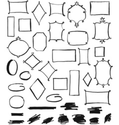 Frames and Marker Lines vector image vector image
