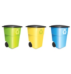 Garbage Container Set vector image
