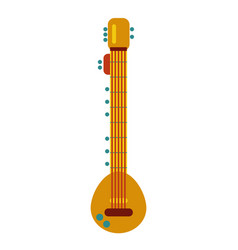 indian culture musical string instrument sitar vector image
