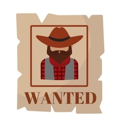 Most wanted man in hat poster concept grunge vector image