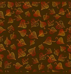 multicolored bright decorative leaves seamless vector image