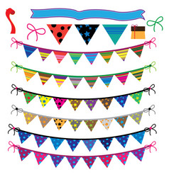 party flag set vector image
