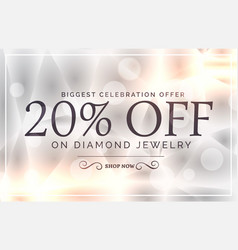 Premium jewelry style sale banner template vector