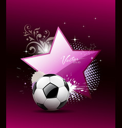 Soccer ball artistic background vector image vector image