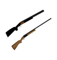 two guns for hunting vector image