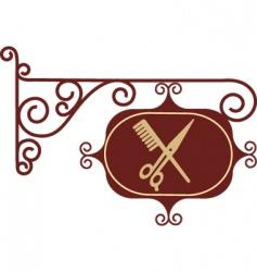 vintage barber sign post vector image