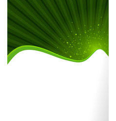 Abstract green ecology flyer background vector