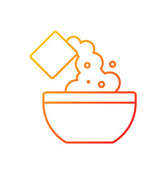 Add cooking ingredient gradient linear icon vector