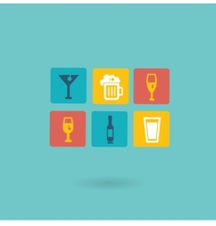 Alcoholic drinks icon vector