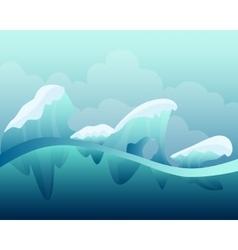 Arctic winter landscape vector image