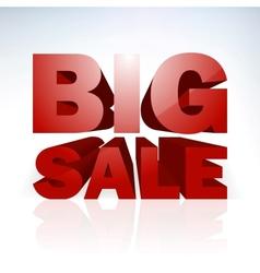 Big sale word template vector