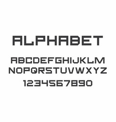 black of font and alphabet vector image