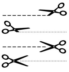 black scissors icon on white vector image