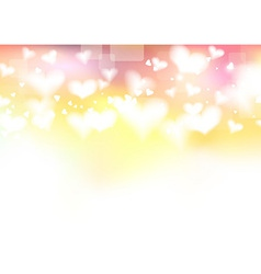 Bright valentine day background template vector image vector image