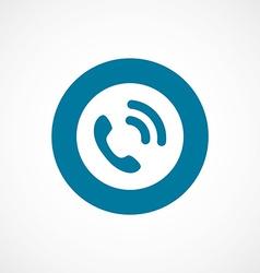 call bold blue border circle icon vector image