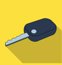 Car keycar single icon in flat style vector