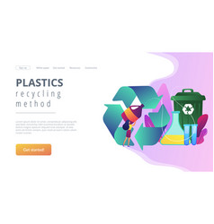 Chemical recycling concept landing page vector