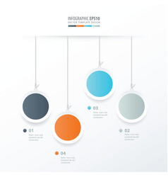 Circle hanging concept orange blue gray color vector