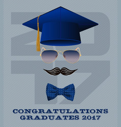 class of 2017 vector image