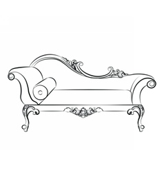 Classic elegant sofa with ornaments vector image