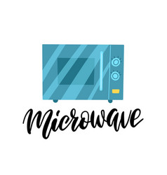 closed microwave flat symbol object icon style vector image