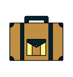 Color briefcase journey travel tourist object vector