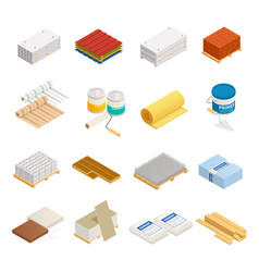 construction materials icon set vector image