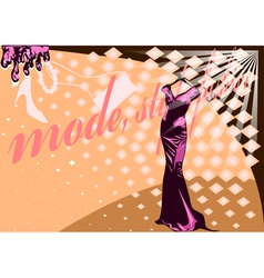 couture dress vector image
