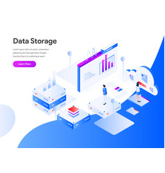 data storage isometric concept modern flat vector image