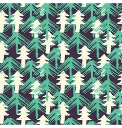 Design seamless pattern with Christmas trees vector image