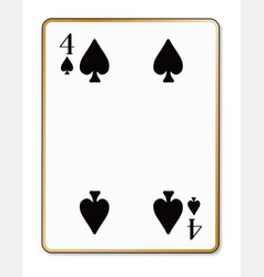 four spades vector image