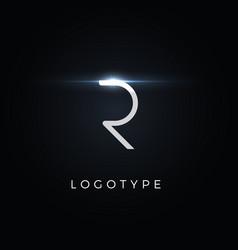 Futurism style letter r minimalist type vector