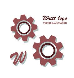 Gear logo template icon vector