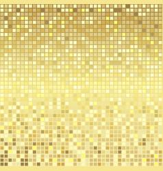 golden pixel background vector image