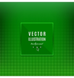 Green abstract background Geometric frame with vector