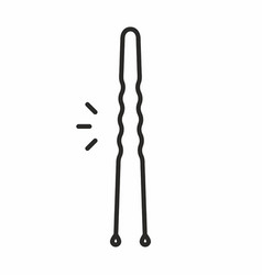 Hairpin icon vector