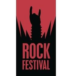 Hand in rock n roll sign vector